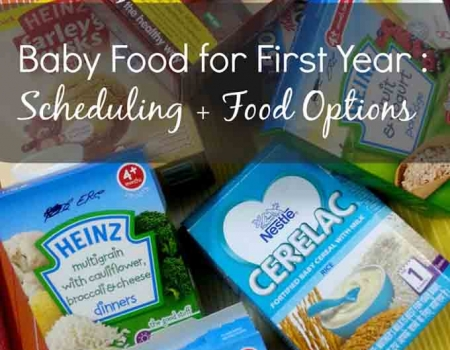 Baby Food for First Year - Setting Schedule + Food Options