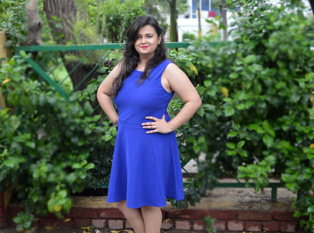 Blue Dress - theitgirl.in