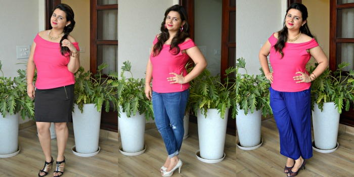 Pink Off Shoulder Top – 3 Ways to Style it
