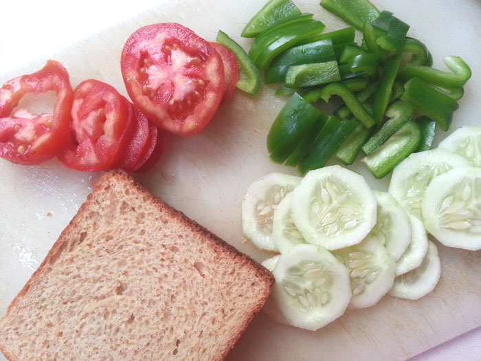 Vegetable Sandwich: Quick, Easy and Healthy Recipe